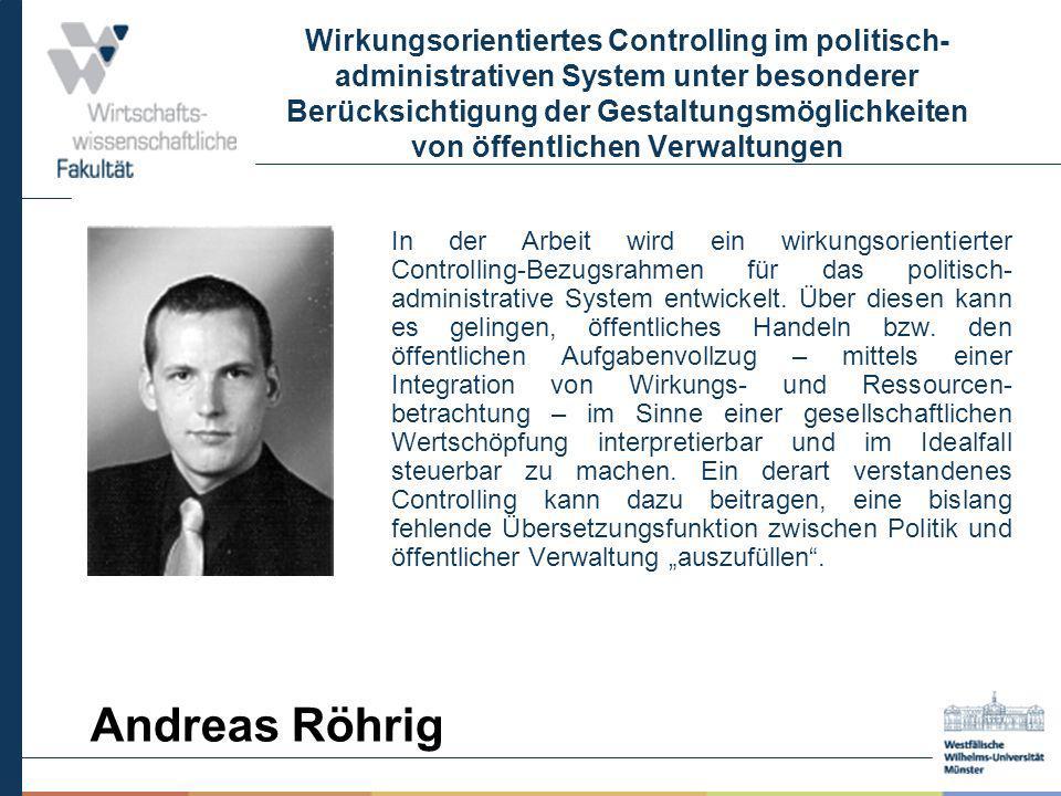 Wirkungsorientiertes Controlling im politisch- administrativen System unter besonderer Berücksichtigung der Gestaltungsmöglichkeiten von öffentlichen