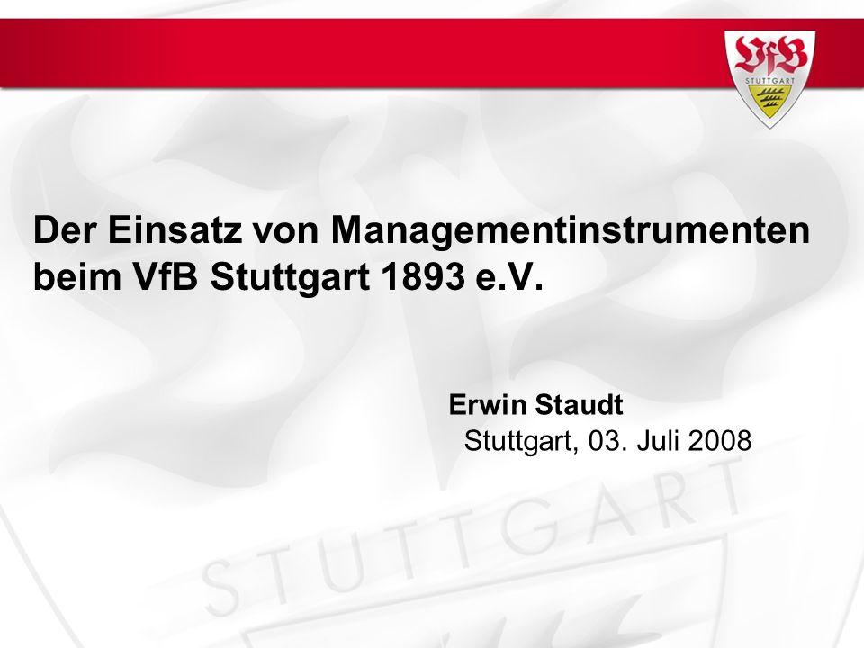Der Einsatz von Managementinstrumenten beim VfB Stuttgart 1893 e.V.