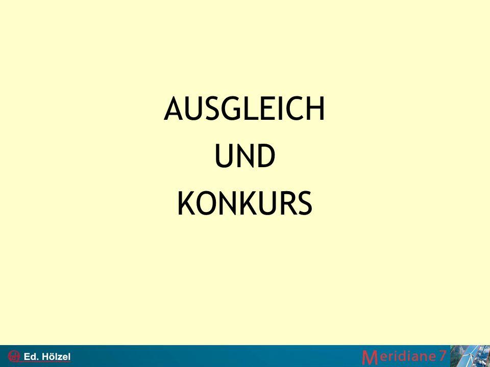 AUSGLEICH UND KONKURS