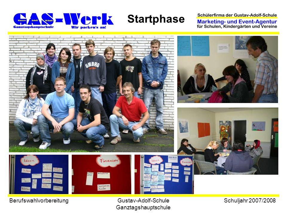 Gustav-Adolf-Schule Ganztagshauptschule Startphase Berufswahlvorbereitung Schuljahr 2007/2008