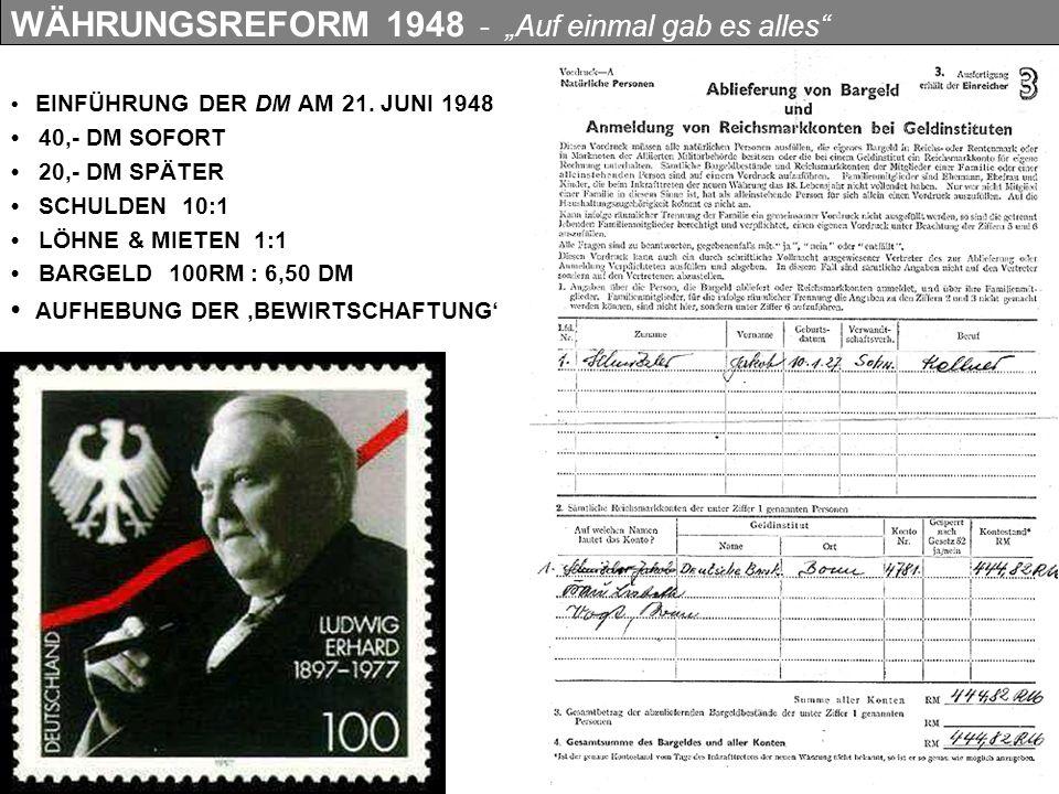 DIE HILFE -1948 - 1952 -INSGESAMT 13 MILLIARDEN US-DOLLAR -1,3 MILLIARDEN FÜR DIE BRD