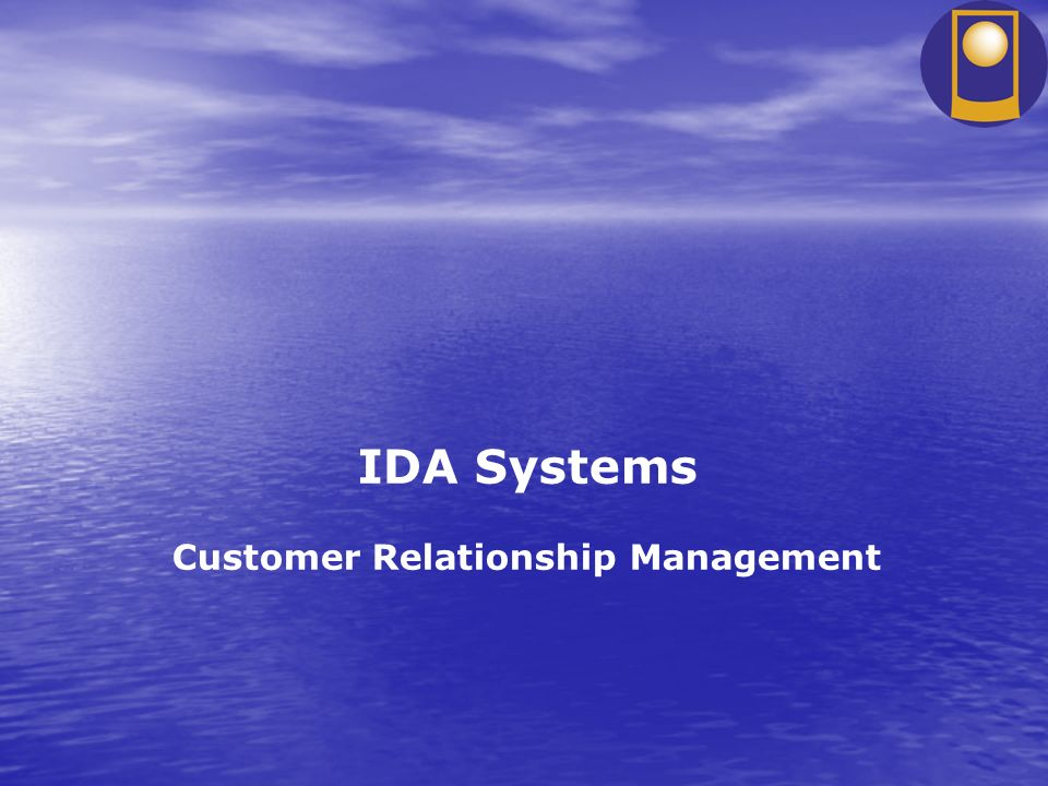 IDA Systems Customer Relationship Management