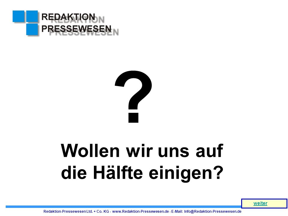 NB = 30 Gespräche HB = 90 Gespräche 15 Gespräche 45 Gespräche Redaktion-Pressewesen Ltd.