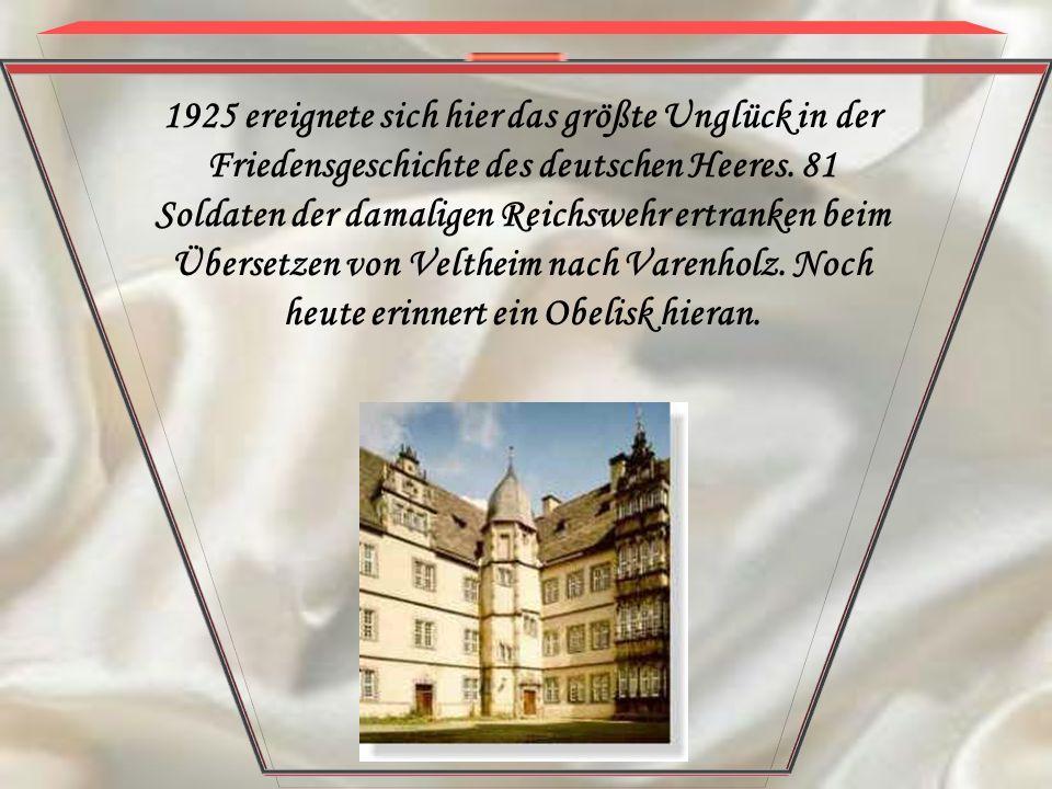 1925 ereignete sich hier das größte Unglück in der Friedensgeschichte des deutschen Heeres. 81 Soldaten der damaligen Reichswehr ertranken beim Überse