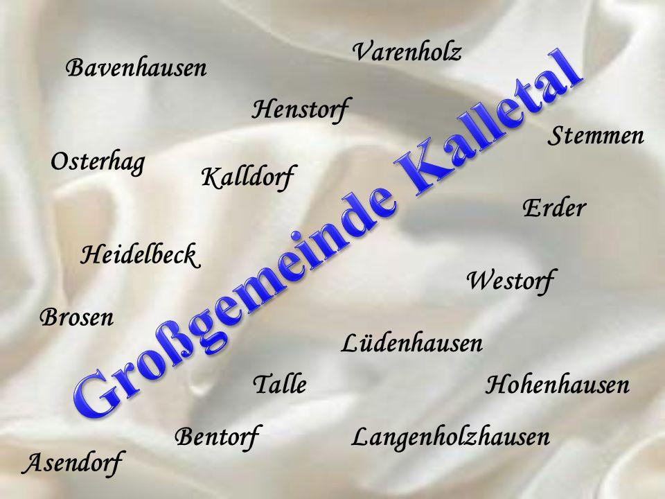 Bavenhausen Osterhag Henstorf Varenholz Kalldorf Heidelbeck Brosen Asendorf Bentorf Talle Langenholzhausen Hohenhausen Lüdenhausen Westorf Erder Stemm