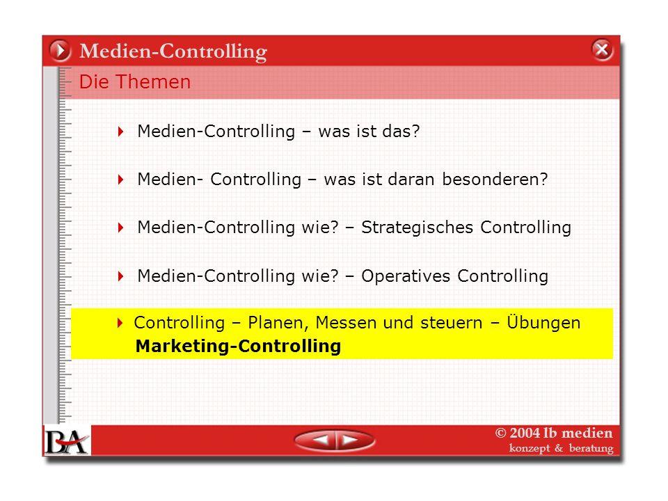 © 2004 lb medien konzept & beratung Operatives Medien-Controlling Planung und Kalkulation Buch – Weitere Risiken + Chancen Risiken: Gewinn: Warten bis