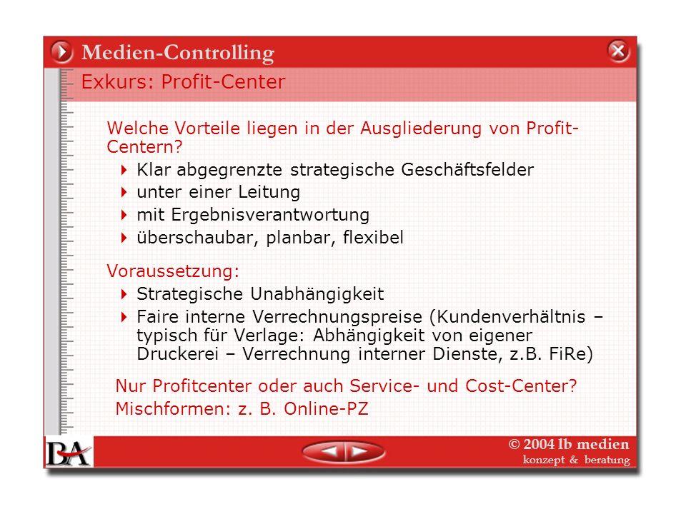 © 2004 lb medien konzept & beratung Strategisches Medien-Controlling Controlling was? – Verlag und seine Märkte Dimensionen der Markt-Segmentierung: T