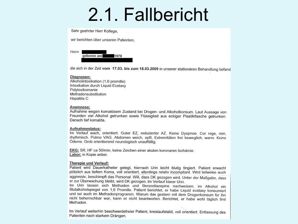 2.1. Fallbericht