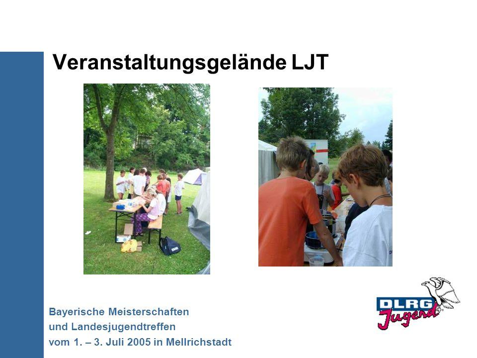 Veranstaltungsgelände LJT Bayerische Meisterschaften und Landesjugendtreffen vom 1. – 3. Juli 2005 in Mellrichstadt