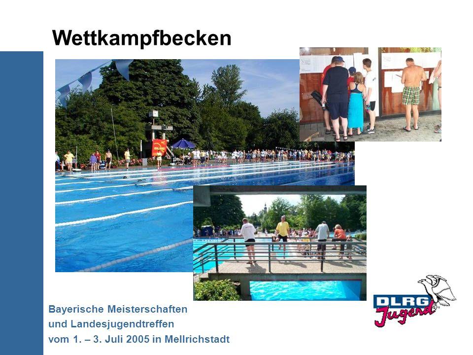 Wettkampfbecken Bayerische Meisterschaften und Landesjugendtreffen vom 1. – 3. Juli 2005 in Mellrichstadt