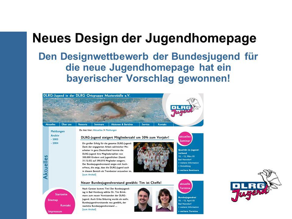 Neues Design der Jugendhomepage Den Designwettbewerb der Bundesjugend für die neue Jugendhomepage hat ein bayerischer Vorschlag gewonnen!