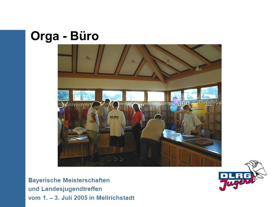 Orga - Büro Bayerische Meisterschaften und Landesjugendtreffen vom 1. – 3. Juli 2005 in Mellrichstadt