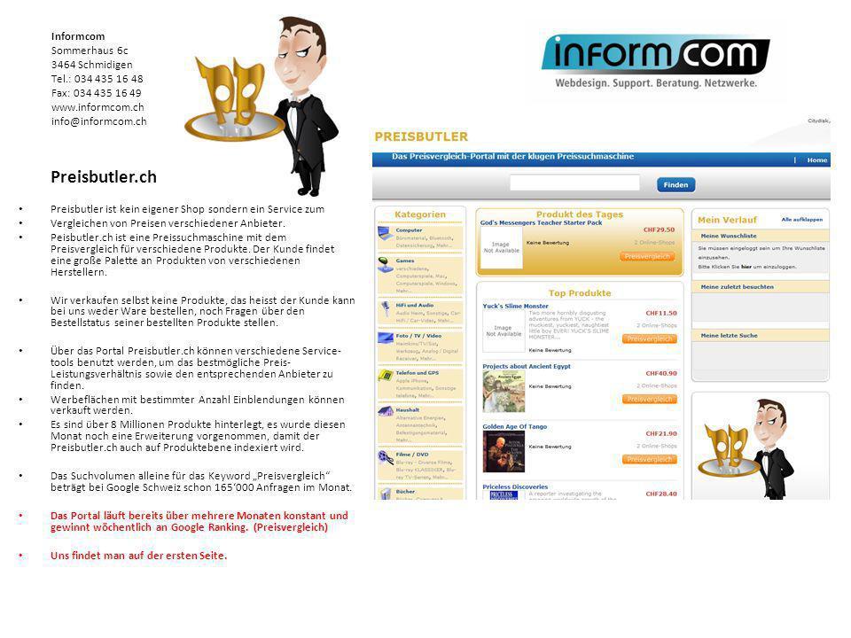 Preisbutler.ch Preisbutler ist kein eigener Shop sondern ein Service zum Vergleichen von Preisen verschiedener Anbieter. Peisbutler.ch ist eine Preiss