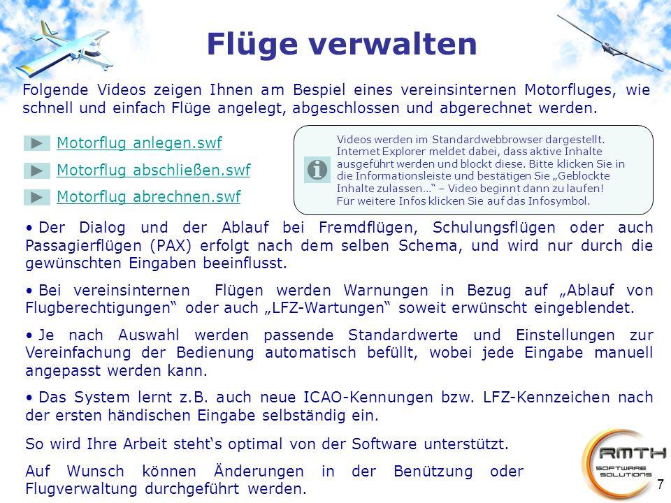 7 Videos werden im Standardwebbrowser dargestellt. Internet Explorer meldet dabei, dass aktive Inhalte ausgeführt werden und blockt diese. Bitte klick