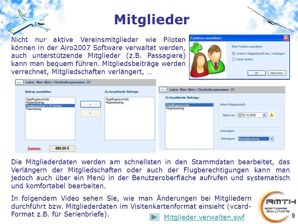 9 In folgendem Video sehen Sie, wie man Änderungen bei Mitgliedern durchführt bzw. Mitgliederdaten im Visitenkartenformat einsieht (vcard- Format z.B.