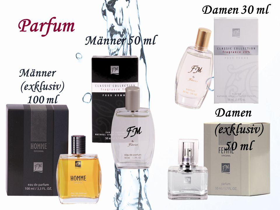 Parfum Männer (exklusiv) 100 ml Damen 30 ml Männer 50 ml Damen (exklusiv) 50 ml