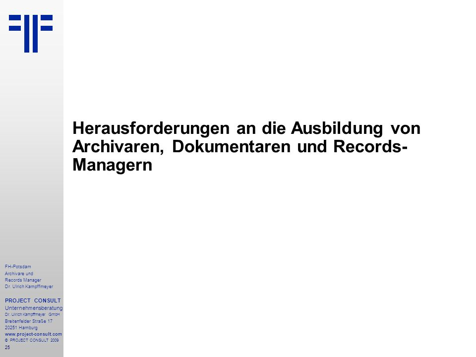 25 FH-Potsdam Archivare und Records Manager Dr.
