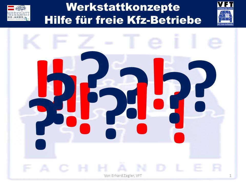 Werkstattkonzepte Hilfe für freie Kfz-Betriebe Von Erhard Zagler, VFT1 ? ! ! ! ! !! ! ? ? ? ? ? ?