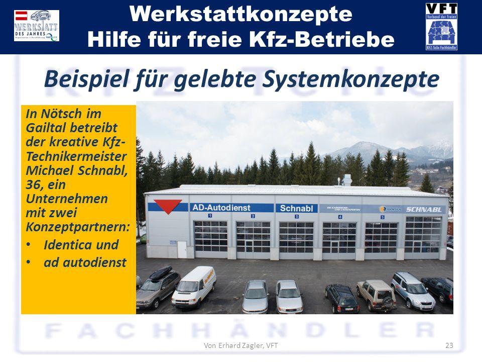 Werkstattkonzepte Hilfe für freie Kfz-Betriebe In Nötsch im Gailtal betreibt der kreative Kfz- Technikermeister Michael Schnabl, 36, ein Unternehmen m