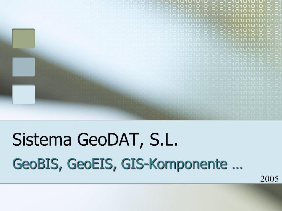 Sistema GeoDAT, S.L. GeoBIS, GeoEIS, GIS-Komponente … 2005