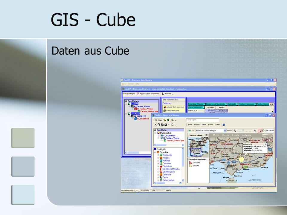 GIS - Cube Daten aus Cube