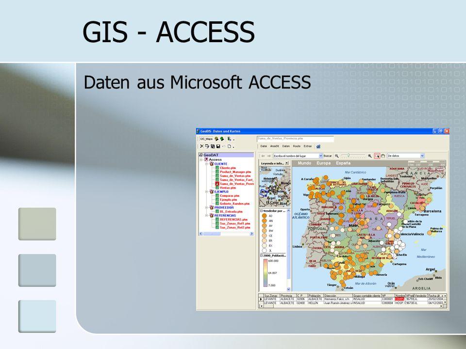 GIS - ACCESS Daten aus Microsoft ACCESS