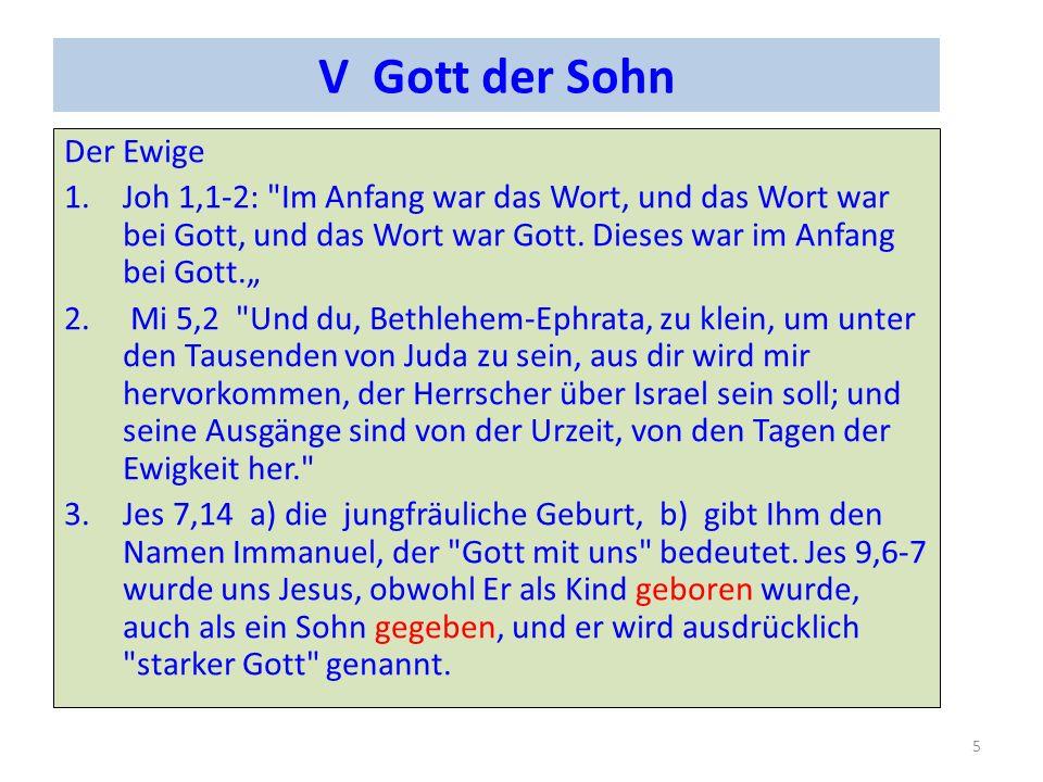 V Gott der Sohn Der Ewige 1.Joh 1,1-2: