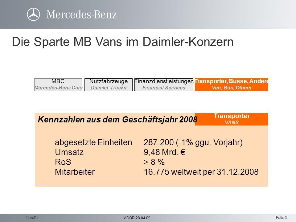 Folie 3 ACOD 28.04.09Van/P L Transporter, Busse, Andere Van, Bus, Others Nutzfahrzeuge Daimler Trucks Finanzdienstleistungen Financial Services MBC Me
