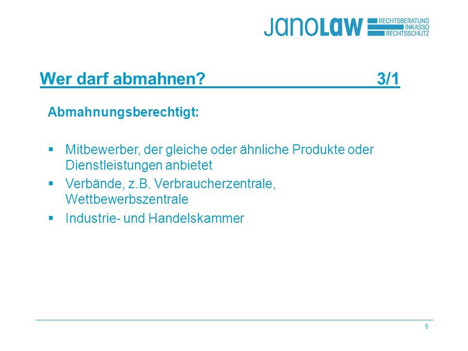 19 Wie kann janolaw Ihnen helfen?7/2 janolaw AG Urteile (LG, OLG, BGH) Gesetze beobachtet Produkte Beratung