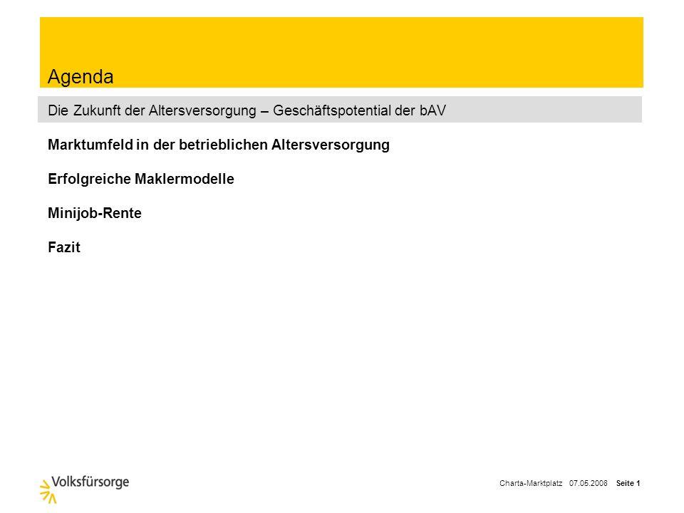 Charta-Marktplatz 07.05.2008 Seite 11 Komplexität der bAV hat durch die Vielzahl der Rechtsgebiete stark zugenommen etc.