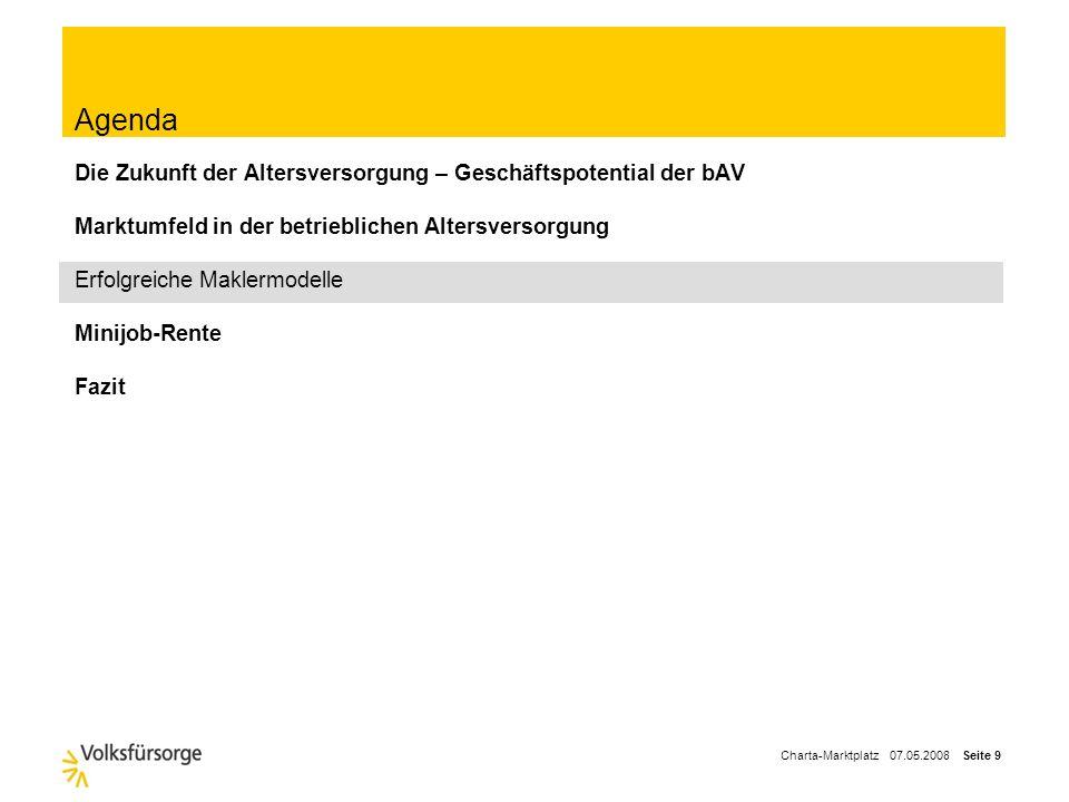 Charta-Marktplatz 07.05.2008 Seite 8 Großes Aufholpotential im deutschen Lebensversicherungsmarkt im Vergleich zum europäischen Ausland Kernaussage Nu