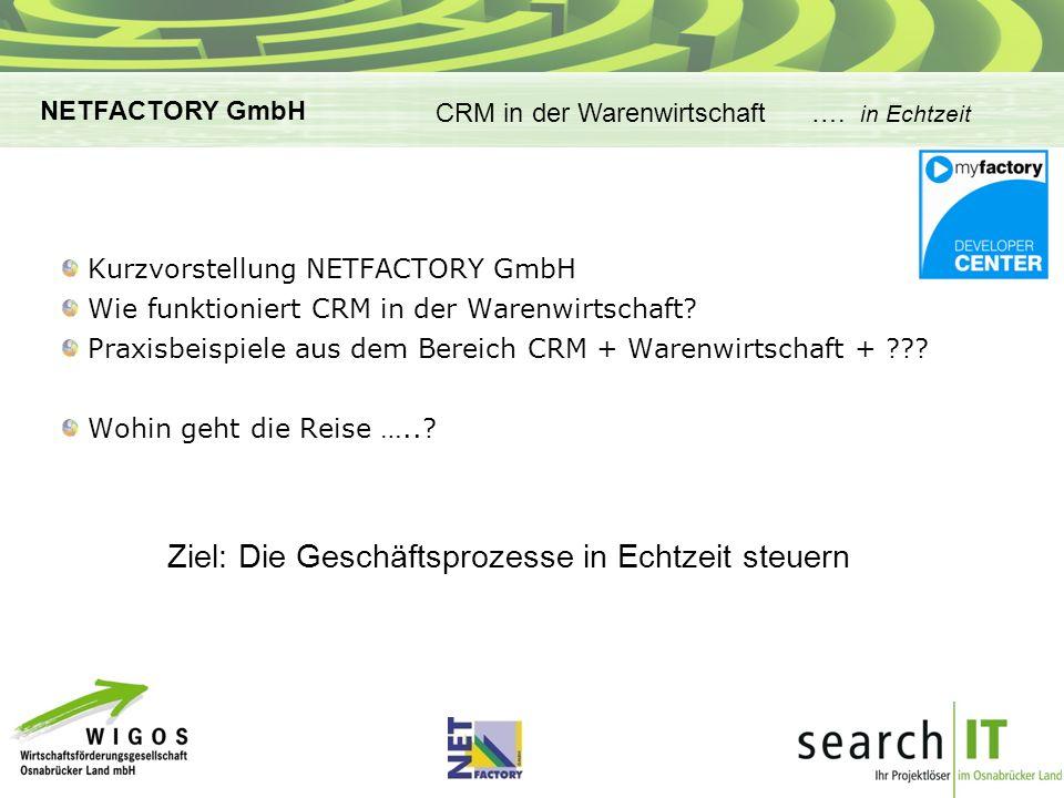 Kurzvorstellung NETFACTORY GmbH Wie funktioniert CRM in der Warenwirtschaft.