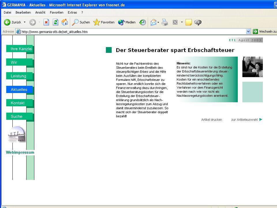 www.germania-stb.de Praxistipps zur Existenzgründung