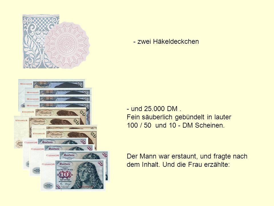 211142584/11 popcorn-fun.de - zwei Häkeldeckchen - und 25.000 DM.