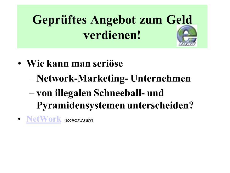 Network Marketing Network-Marketing ist eine Form des Franchising mit Elementen des Direktvertriebs und basiert auf der Weiterempfehlung von Waren (Pr
