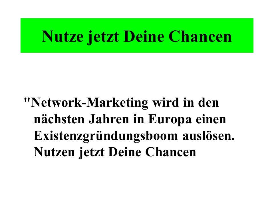 Warum? Die vertraglichen Konditionen im Network-Marketing sind für alle Geschäftspartner gleich. So kann jemand, der zu einem späteren Zeitpunkt einem