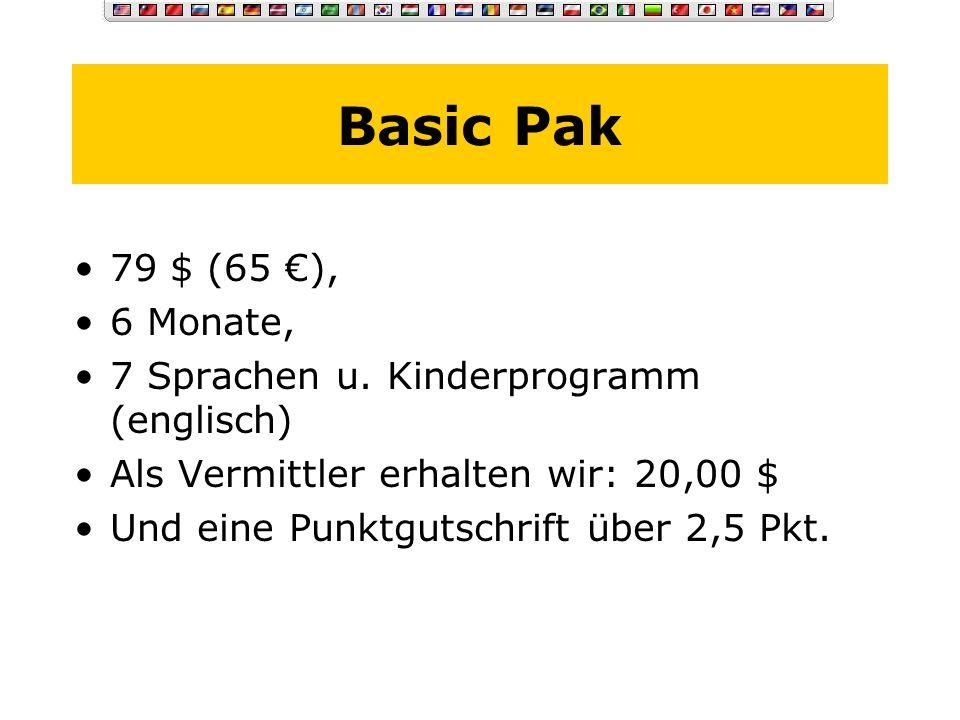 Die Einzelprodukte Basic Pak Advanced Pak Pro Pak