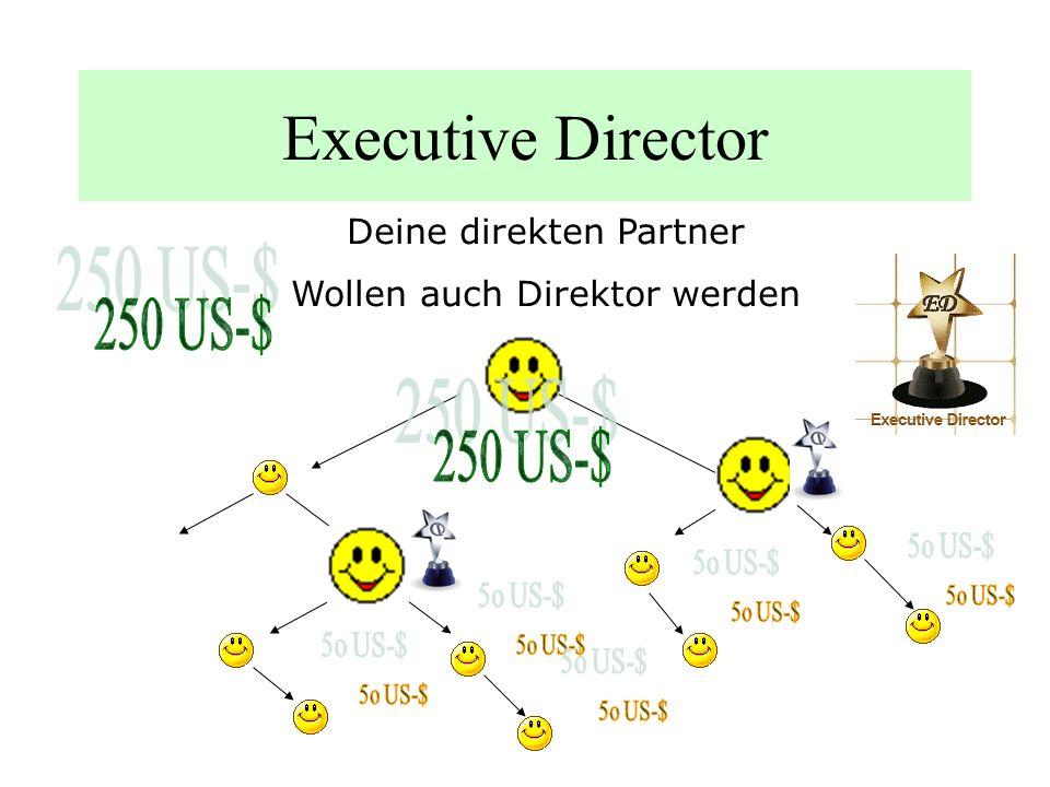 Director Deine direkten Partner verkaufen auch Während die Partner 50 US-$ verdienen, erhältst Du 25 US-$ Maching-Bonus