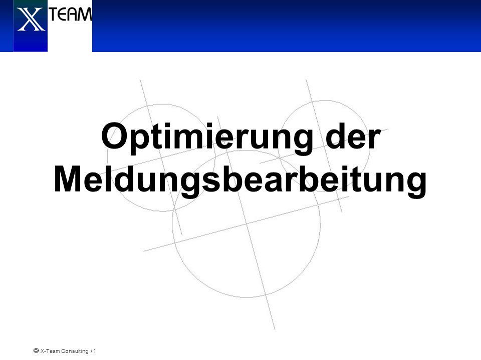 X-Team Consulting / 1 Optimierung der Meldungsbearbeitung