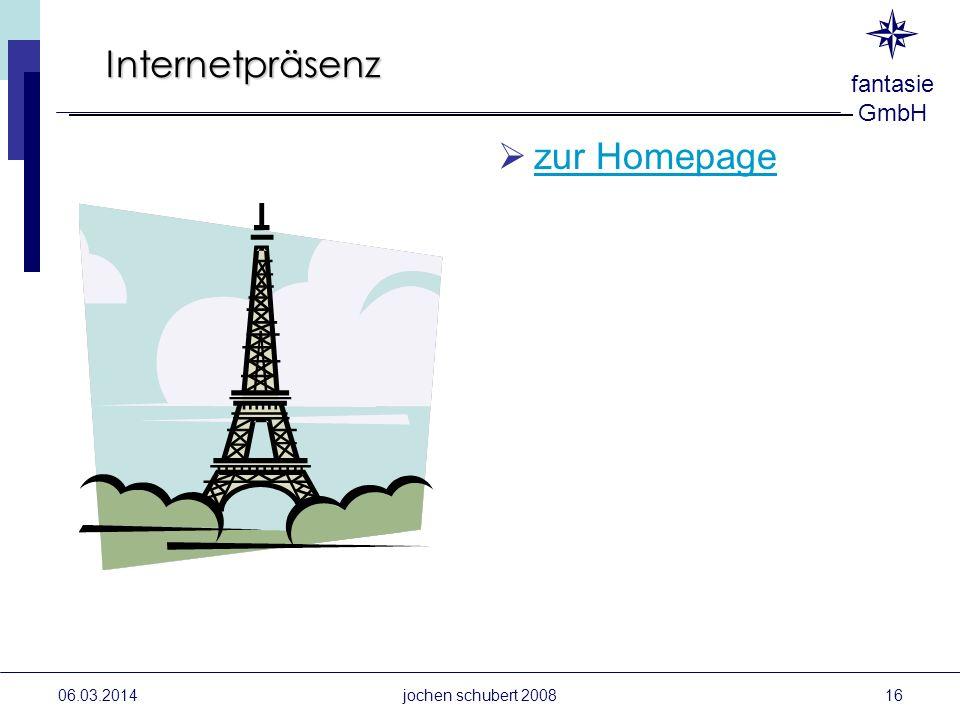 fantasie GmbH Internetpräsenz zur Homepage 06.03.2014jochen schubert 200816