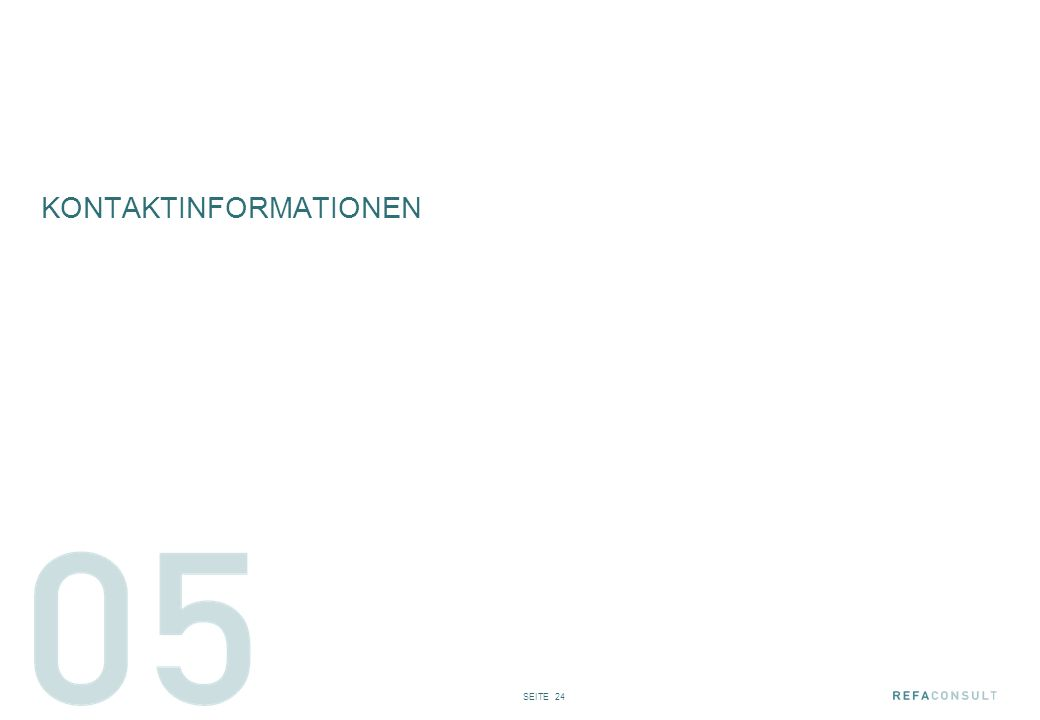 SEITE 24 KONTAKTINFORMATIONEN