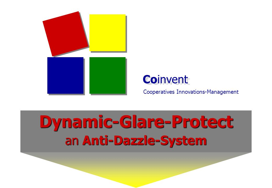Coinvent Cooperatives Innovations-Management Dynamic-Glare-Protect an Anti-Dazzle-System