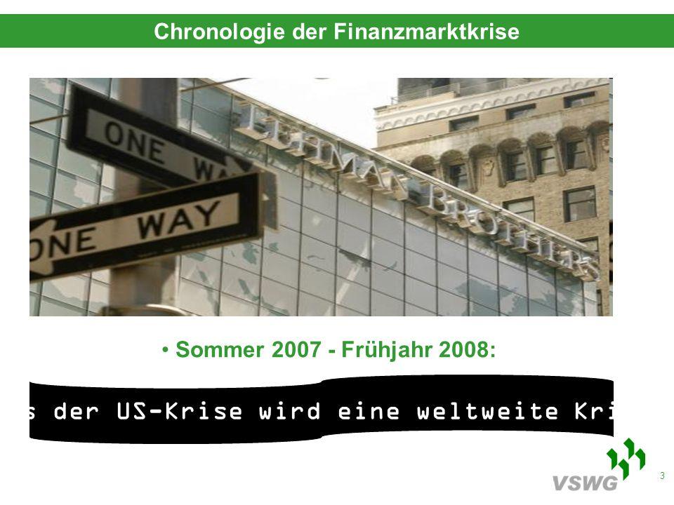 4 Sommer 2008: das Ende der US-Investmentbanken Oktober 2008: der Moment der Rettungspakete November 2008:die Konjunktur kippt