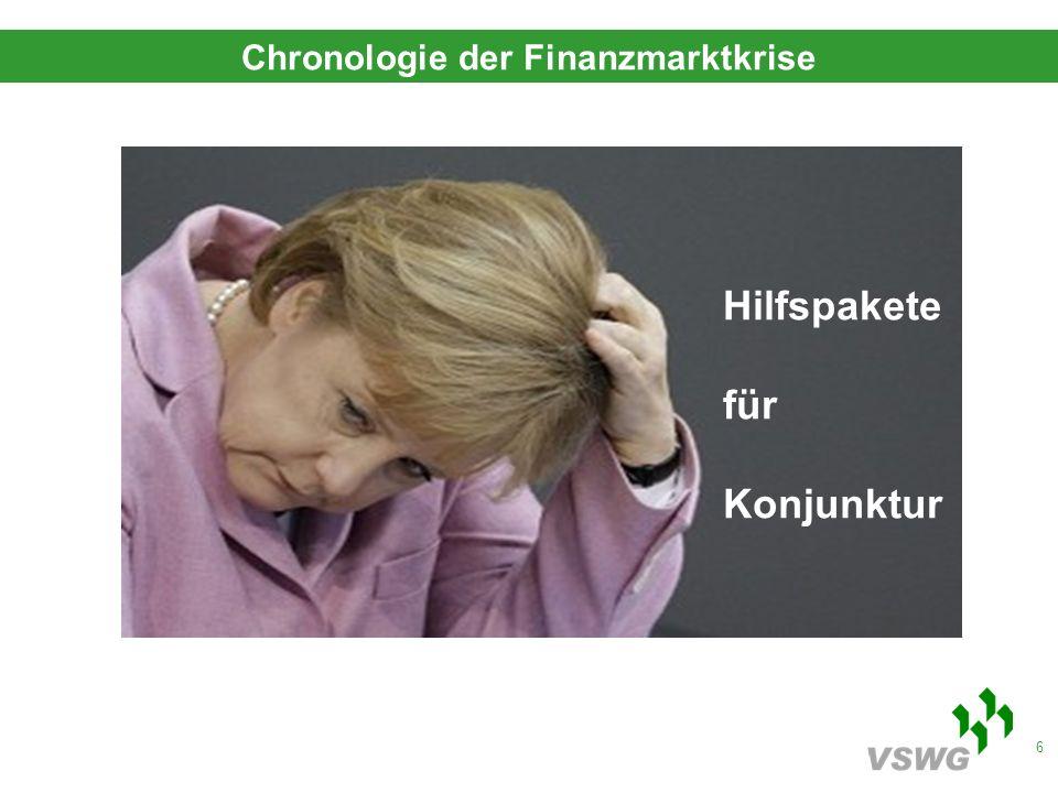 6 Hilfspakete für Konjunktur Chronologie der Finanzmarktkrise