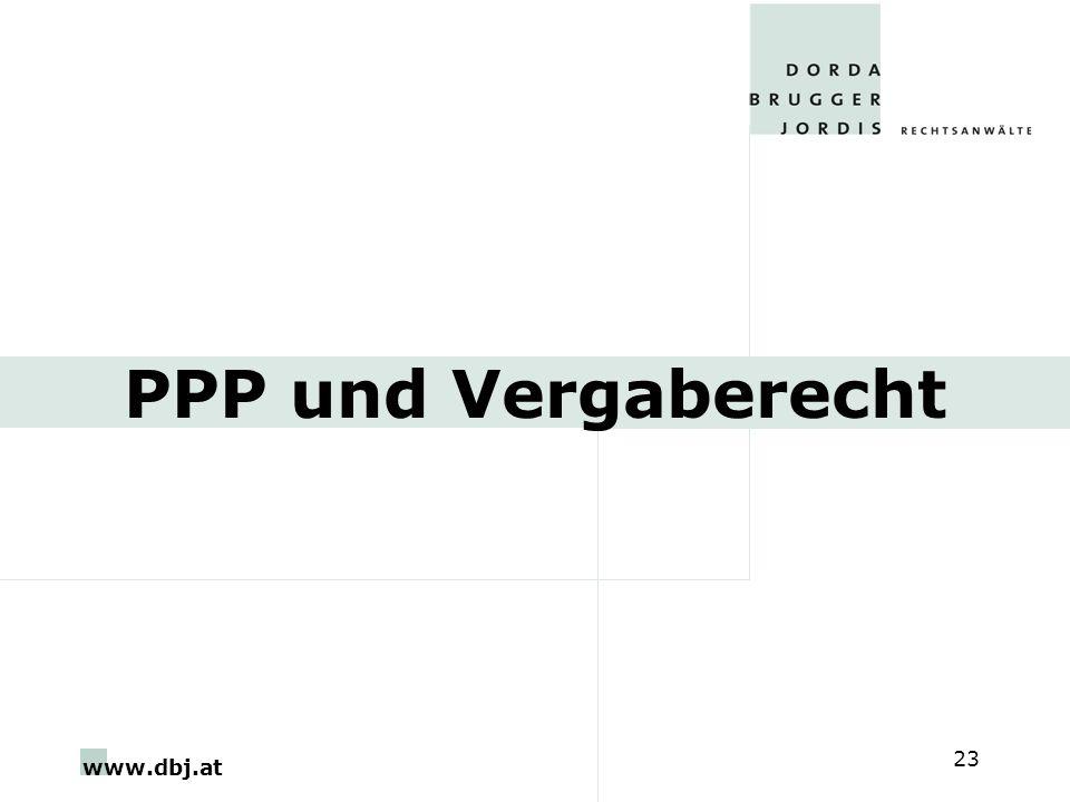 www.dbj.at 23 PPP und Vergaberecht