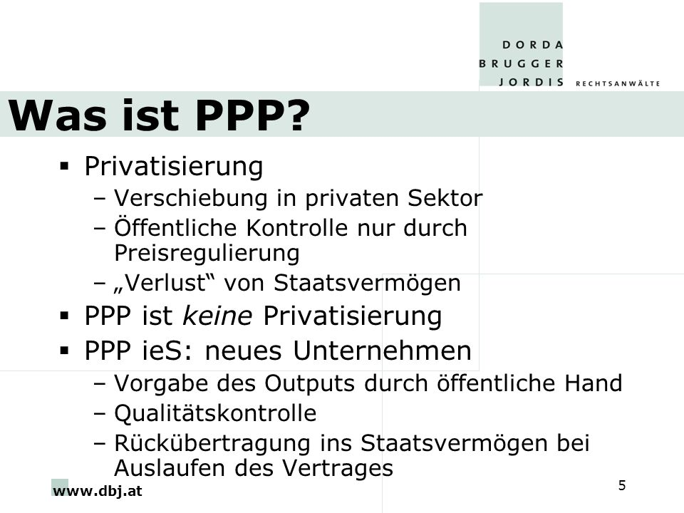 www.dbj.at 5 Was ist PPP.
