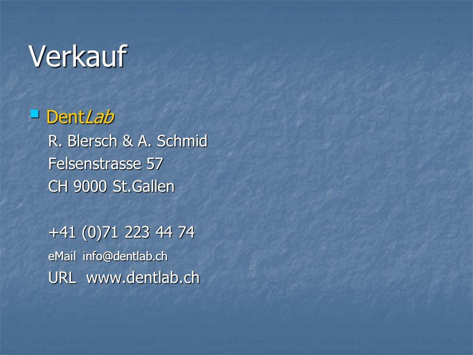 Verkauf DentLab DentLab R. Blersch & A. Schmid R.