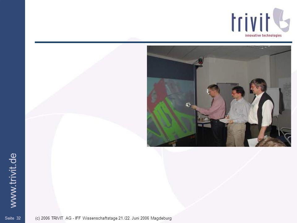 www.trivit.de (c) 2006 TRIVIT AG - IFF Wissenschaftstage 21./22. Juni 2006 MagdeburgSeite 32