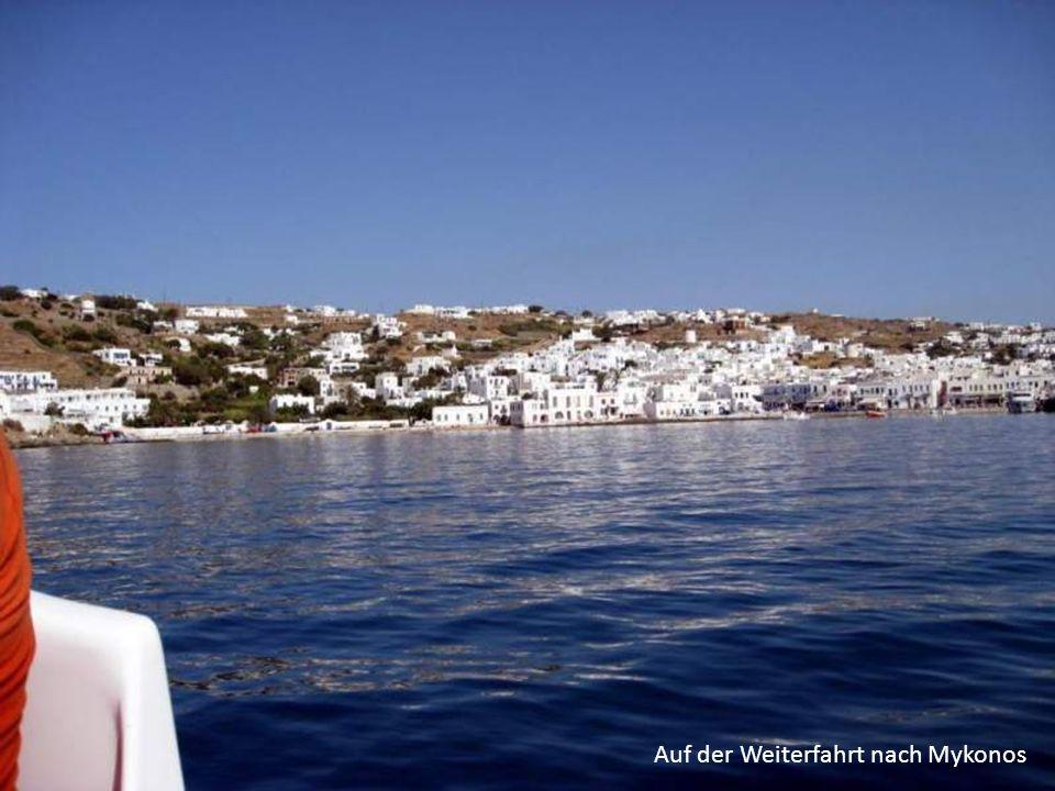 Auf der Weiterfahrt nach Mykonos