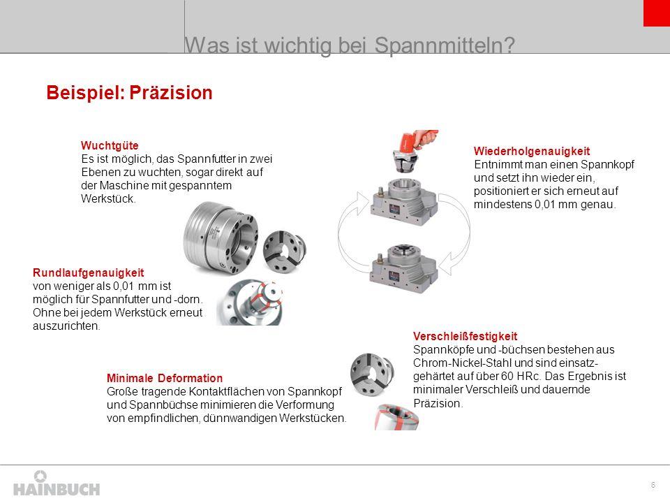 7 Aufbau eines SPANNTOP nova Spannfutters Spannkopf hält das Werkstück.
